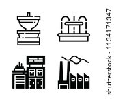filled buildings icon set such... | Shutterstock .eps vector #1134171347