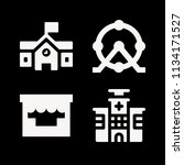 filled buildings icon set such... | Shutterstock .eps vector #1134171527
