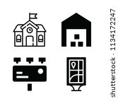 filled buildings icon set such... | Shutterstock .eps vector #1134172247