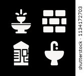 filled buildings icon set such... | Shutterstock .eps vector #1134172703