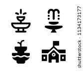 filled buildings icon set such... | Shutterstock .eps vector #1134173177