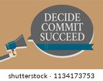 handwriting text decide commit... | Shutterstock . vector #1134173753