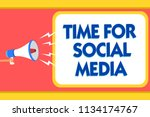 text sign showing time for... | Shutterstock . vector #1134174767