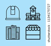 outline buildings icon set such ... | Shutterstock .eps vector #1134175727
