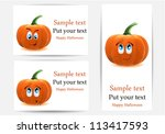 vector greeting cards with... | Shutterstock .eps vector #113417593