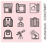 outline buildings icon set such ... | Shutterstock .eps vector #1134176807