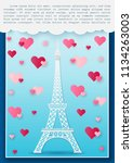vector illustration love and... | Shutterstock .eps vector #1134263003
