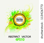 abstract vector background with ... | Shutterstock .eps vector #113426773