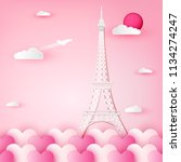 vector illustration love and... | Shutterstock .eps vector #1134274247