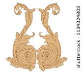 retro baroque decorations... | Shutterstock .eps vector #1134324803