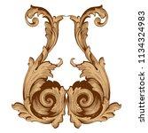 retro baroque decorations... | Shutterstock .eps vector #1134324983
