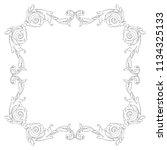 retro baroque decorations... | Shutterstock .eps vector #1134325133