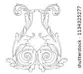 retro baroque decorations... | Shutterstock .eps vector #1134325277