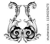 retro baroque decorations... | Shutterstock .eps vector #1134325673
