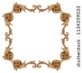 retro baroque decorations... | Shutterstock .eps vector #1134359033