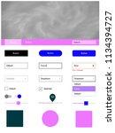 light pink  blue vector ui ux...