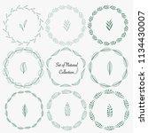 set of hand drawn round frames... | Shutterstock .eps vector #1134430007
