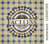 faceless arabic emblem....   Shutterstock .eps vector #1134437543