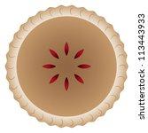 Cherry Pie With Golden Brown...
