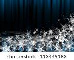 an abstract dark christmas... | Shutterstock . vector #113449183