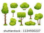 cartoon trees and bushes. green ... | Shutterstock .eps vector #1134500237