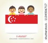 9 august   singapore... | Shutterstock .eps vector #1134506717