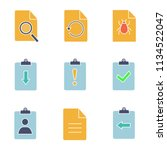 ui ux glyph color icons set....   Shutterstock .eps vector #1134522047