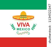 viva mexico independence day of ...   Shutterstock .eps vector #1134522347