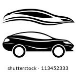 vector. 2 icons. cars. | Shutterstock .eps vector #113452333