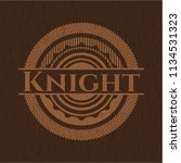 knight wood emblem. retro | Shutterstock .eps vector #1134531323