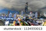 bangkok nightscape business... | Shutterstock . vector #1134553013