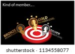 kind of member on the black... | Shutterstock .eps vector #1134558077