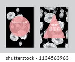 elegant cards with decorative... | Shutterstock .eps vector #1134563963