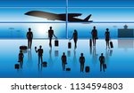 airport  terminal   group of...   Shutterstock .eps vector #1134594803