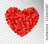 small red and pink hearts... | Shutterstock .eps vector #1134623387