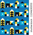 seamless pattern with small... | Shutterstock .eps vector #1134630353