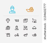 shipment icons set. email and... | Shutterstock .eps vector #1134632777
