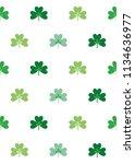 three leaf clover seamless... | Shutterstock .eps vector #1134636977