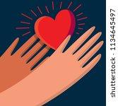 logo vector hands care and help   Shutterstock .eps vector #1134645497