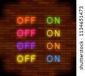 vector on and off lamp neon... | Shutterstock .eps vector #1134651473