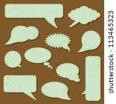 green communication bubbles | Shutterstock .eps vector #113465323