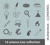 science icon collection - stock vector