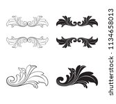 classical baroque vector set of ... | Shutterstock .eps vector #1134658013
