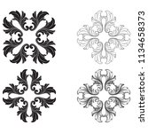 classical baroque vector set of ... | Shutterstock .eps vector #1134658373