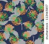 floral   seamless pattern | Shutterstock .eps vector #113465857