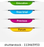 vector multicolored paper... | Shutterstock .eps vector #113465953
