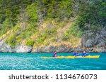 puerto rio tranquilo   aysen  ... | Shutterstock . vector #1134676073