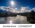 carretera austral  patagonia  ... | Shutterstock . vector #1134682547
