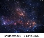 vibrant night sky with stars... | Shutterstock . vector #113468833