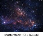 Vibrant Night Sky With Stars...